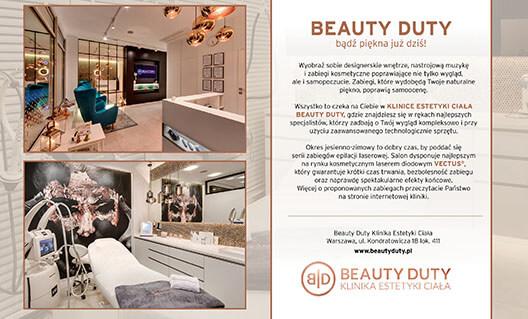 SHOW ROOM - artykuł o warszawskiej klinice urody Beauty Duty