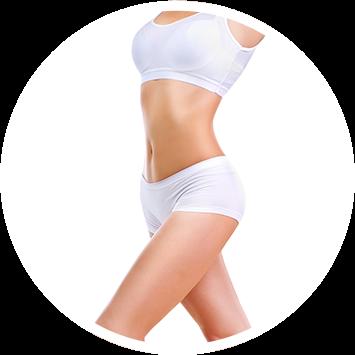 Kobiece ciało po zabiegach pielęnacyjnych