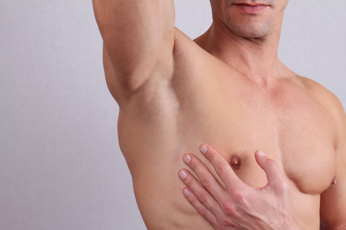 Mężczyzna po depilacji