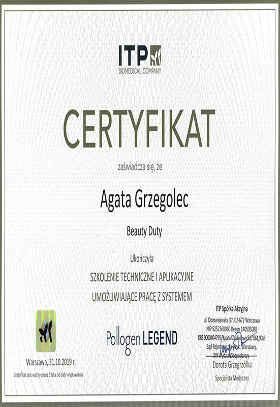 Agata Grzegolec – Pollogen Legend